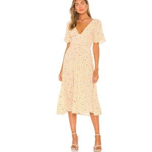 FREE PEOPLE IN FULL BLOOM DRESS IN IVORY S